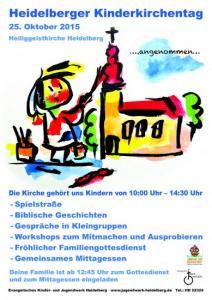 Kinderkirchentag 2015 Plakat